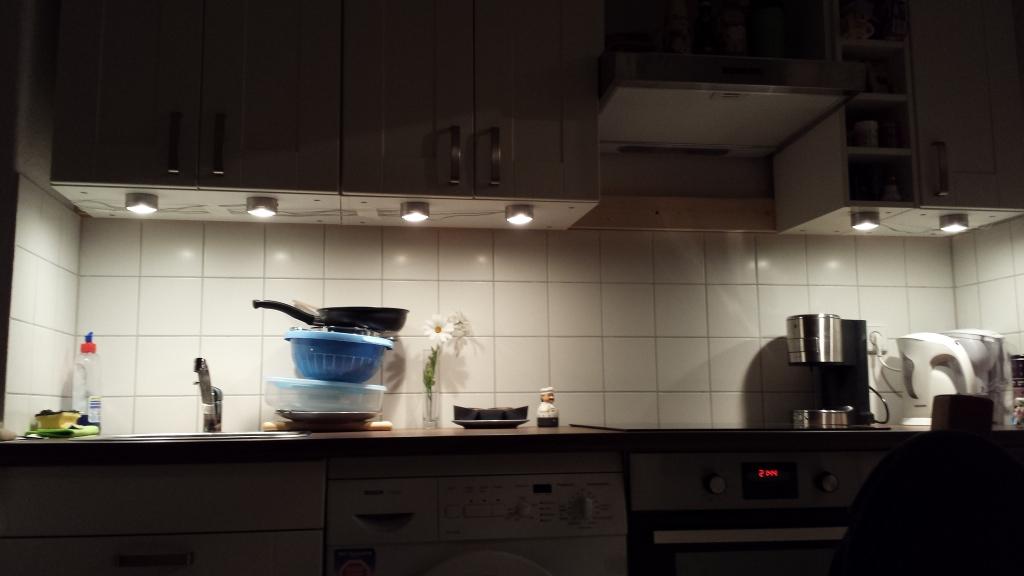 Beleuchtung der Küchenzeile