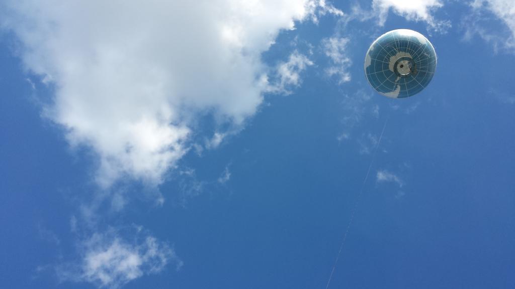 Welt-Ballon am Potsdamer Platz